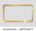double gold shiny 16x9... | Shutterstock .eps vector #1687018477