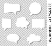 speech  bubbles set icons  on a ... | Shutterstock .eps vector #1687023574