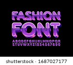 vector fashion font  violet... | Shutterstock .eps vector #1687027177