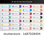 set of bookmarks  stickers ... | Shutterstock .eps vector #1687028404