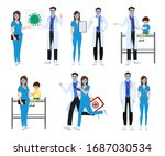 medical front liners set... | Shutterstock .eps vector #1687030534