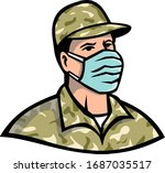 mascot icon illustration of...   Shutterstock .eps vector #1687035517
