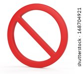 forbidden sign | Shutterstock . vector #168704921