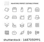 simple set of linens related... | Shutterstock .eps vector #1687050991