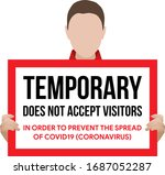 temporary  does  not  accept ... | Shutterstock .eps vector #1687052287