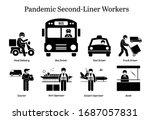 virus pandemic second liner...   Shutterstock .eps vector #1687057831
