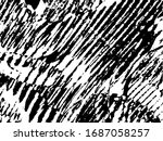 grunge pattern black and white. ... | Shutterstock .eps vector #1687058257