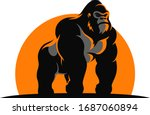 The Gorilla Standing In The...
