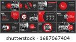 presentation and slide layout...   Shutterstock .eps vector #1687067404