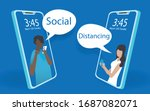 abstact mobile phone view of a... | Shutterstock .eps vector #1687082071