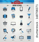 web icons blue version vector