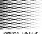 monochrome dots background.... | Shutterstock .eps vector #1687111834