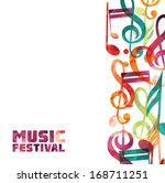 colorful music background. | Shutterstock .eps vector #168711251
