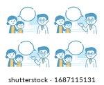medical illustration with... | Shutterstock .eps vector #1687115131