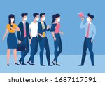 the call to avoid crowded... | Shutterstock .eps vector #1687117591