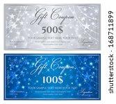 gift certificate  voucher ... | Shutterstock .eps vector #168711899