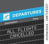 airport departures board with...   Shutterstock .eps vector #1687155337