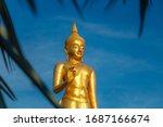 A Golden Buddha Statue From...
