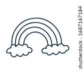 vector doodle illustration.... | Shutterstock .eps vector #1687167184