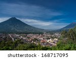 valley of antigua guatemala and ... | Shutterstock . vector #168717095