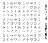 education icon set. collection... | Shutterstock .eps vector #1687176904