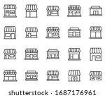 shop design icons set. thin... | Shutterstock .eps vector #1687176961
