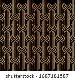 seamless art deco pattern....   Shutterstock .eps vector #1687181587