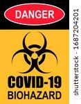 biohazard sign of covid 19.... | Shutterstock . vector #1687204201
