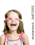 Little Girl With Goggles On An...