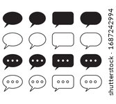 chat and speech bubble icons...