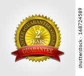 gold 2 years guarantee seal  | Shutterstock .eps vector #168724589