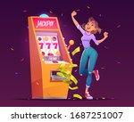 slot machine jackpot casino win.... | Shutterstock .eps vector #1687251007