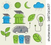 concept of ecology and recycle  ... | Shutterstock .eps vector #1687261657