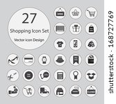 shopping icons set.vector... | Shutterstock .eps vector #168727769