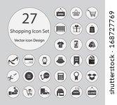 shopping icons set.vector... | Shutterstock .eps vector #168727769