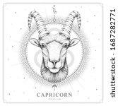 modern magic witchcraft card...   Shutterstock .eps vector #1687282771