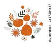 fall autumn illustration poster....   Shutterstock .eps vector #1687284667