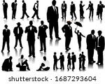 office people silhouettes...   Shutterstock .eps vector #1687293604