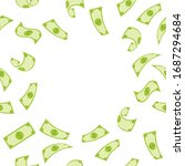 banner with pattern of money... | Shutterstock .eps vector #1687294684