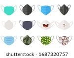 medical and face masks vector... | Shutterstock .eps vector #1687320757