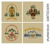 set of  vintage poster designs... | Shutterstock .eps vector #1687321654