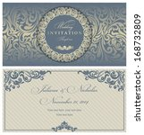 invitation cards in an old... | Shutterstock .eps vector #168732809