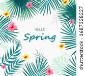 hello spring typography....   Shutterstock .eps vector #1687328227