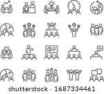 set of business icons  teamwork ... | Shutterstock .eps vector #1687334461