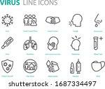 set of virus icons  ill  flu ... | Shutterstock .eps vector #1687334497