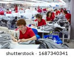 Textile Cloth Factory Working...
