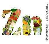 zinc zn microelement mineral... | Shutterstock .eps vector #1687353067
