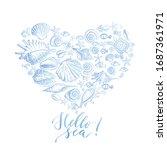 summer watercolor background... | Shutterstock .eps vector #1687361971
