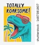 dinosaur vector illustration... | Shutterstock .eps vector #1687381807