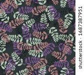 vector illustration flower... | Shutterstock .eps vector #1687387951